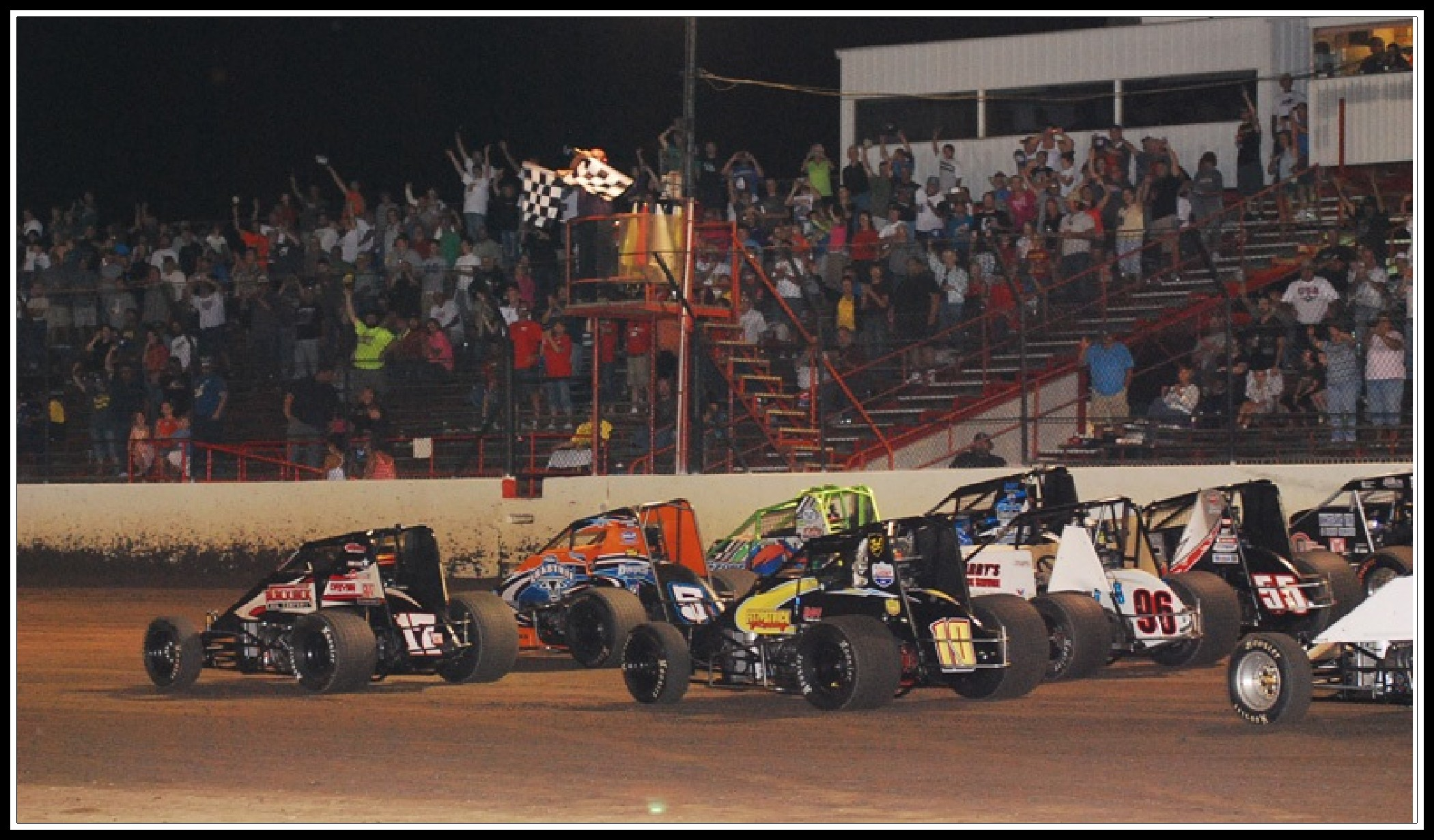 Tri-State Speedway with border